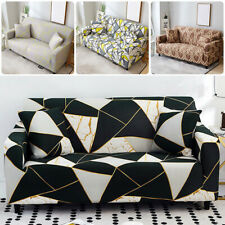 1-4 Seater Sofa Covers Slipcovers Stretch Retro Corner Sofa Sectional Couch Fit