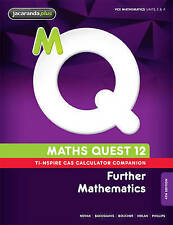 Maths Quest 12 Further Mathematics 4E TI-Nspire Calculator Companion by...