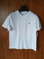 RALPH LAUREN TOP White Short Sleeve T-Shirt MEDIUM / 10-12 Years Boys - NEW