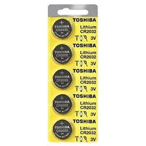 5 x New Original Toshiba CR2032 CR 2032 3V LITHIUM BATTERY BR2032 DL2032 Remote