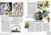 Coupure de Presse Clipping 2013 (2 pages) Roy Lichtenstein pop art