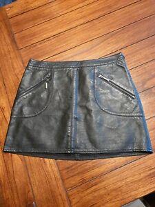 Zara Black Leather Mini Skirt - Size S - Excellent Condition