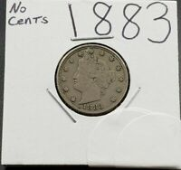 1883 Liberty Head V Nickel Choice VF Very Fine Circulated No Cents Variety