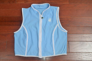 Women's Body Glove zipper swimsuit top, baby blue and white, gorgeous!