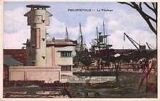 Philippville Algeria Le Pilotage Harbour View Antique Postcard J50185