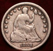 1858-O New Orleans Mint Seated Liberty Silver Half Dime