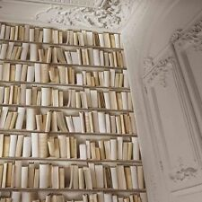 MURIVA BOOKCASE VITUAL REALITY WALLPAPER NATURAL (J43027) NEW FEATURE WALL