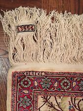Hereke Rare Signed Hand Knotted Exquisite Very Fine 100% Silk Rug