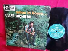 THE SHADOWS CLIFF RICHARD When in Rome LP 1965 AUSTRALIA VG MONO