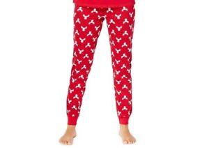 Family PJs Women's Holiday-Christmas Moose Print Knit Pajama Pants XS, Red #8109