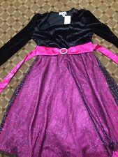 Amy's Closet Fuschia Glitter Dress With Attached Bolero Jacket Size 12