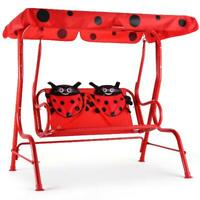 Patio Swing Chair Kids /Children Porch Bench Canopy 2 Person Yard Furniture