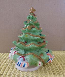 Spieluhr Spieldose  Weihnachten Bisquit Porzellan Weihnachtsbaum ca. 18 cm hoch