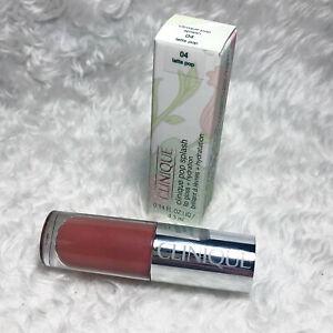 BNIB Clinique Pop Splash Lip Gloss + Hydration 04 Latte Pop 4.3ml Full SIze