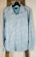Inc International Concepts men XL blue checks button down long sleeve shirt