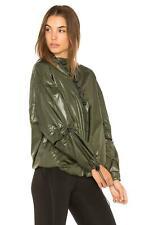 Ivy Park Women's Lace-Up Half Zip Rain Jacket in Khaki Green Size Small