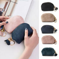 New Women Leather Small Mini Wallet Card Key Holder Zip Coin Purse Clutch BagUK