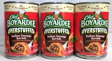 Chef Boyardee Overstuffed Italian Sausage Ravioli 15 oz ( 3 Cans )