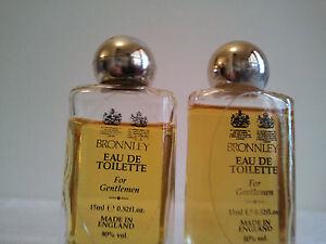 Lot Of 2 Miniatures BRONNLEY For Gentlemen 2 x 15ml EDT Men Fragrance Rare