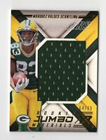 MARQUEZ VALDES-SCANTLING NFL 2018 PANINI XR ROOKIE JUMBO MATERIALS #/99 (PACKERS