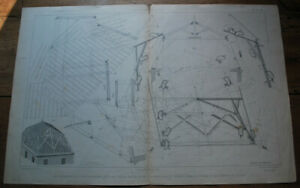 Raccordement d'un Comble Mansard Mazerolle Traité de Charpente Planche 33-34