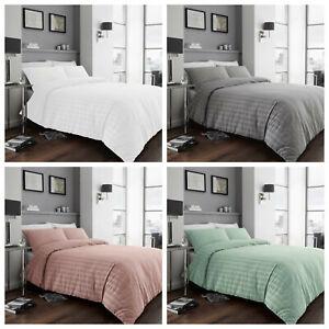 Seersucker Duvet Cover Set 100% Cotton Percale Bedding Sets Double King Size