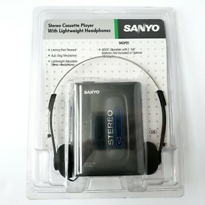Sanyo MGP21 Stereo Cassette Player w/ Headphones Brand New Factory Sealed