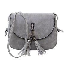 Women Tassels Messenger Bag Shoulder Crossbody Bags Cat Printed PU Leather Purse