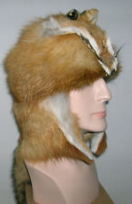 NEW  RED FOX MOUNTAIN MAN FUR HAT WITH FACE MADE IN USA. fur/pelt/skin/hide
