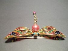 Joan Rivers Classics Collection Stained Glass Dragonfly Brooch