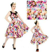 LUNA MOTH SWING DRESS by HEARTS & ROSES LONDON ALTERNATIVE RETRO 50's VINTAGE