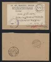 APO Army Post Office - P.W. Discharge Centre Münster 1949 Certfied Official OHMS