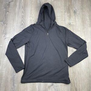 Lululemon Quarter Zip Pullover Athletic Sweatshirt Black Sz L (See Measurements)