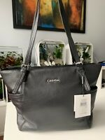 NWT Calvin Klein CK L-Kitote H3GAA155 Soft Pebble Leather Large Tote Black