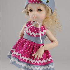 "Dollmore 1/6 Bjd 10"" Clothes Dear Doll Size - Savora Dress Set (Hotpink & Blue)"