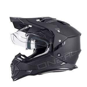 ONeal Sierra 2 Motocross Helmet Matt Black Off Road Dual Sport Motorcycle O Neal