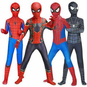 Spiderman Super Kids Hero Boys Costume Cosplay Fancy Dress Jumpsuit Xmas Gifts~
