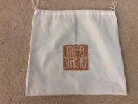 "Rafael Sánchez Logo Drawstring  Purse Cover Off White Dust Bag 13.5 x 15"".  (p5)"