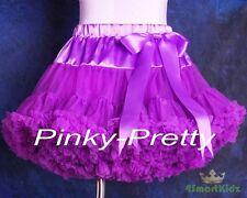 Purple Tulle Pettiskirt Tutu Skirt Dancewear Party Holiday Girl Size 2-3 Pp001a