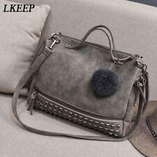 Fashion Women's Faux Leather Stud Tote Shoulder Bags Shopping Handbag Pouch HZ