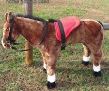 MELISSA & DOUG GIANT PLUSH HORSE - SADDLE SET - RED
