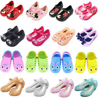 Kids Baby Girls Princess Jelly Cute Sandals Toddler Summer Holiday Shoes Flats