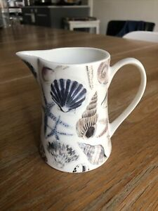 Gisela Graham China Shell Paintings Patterned Small Milk Jug Coastal Sea