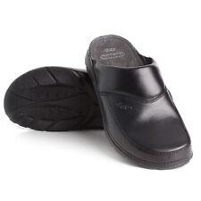 Batz Peter Black Mens Leather Slip On Mules Clogs, EU 43, UK 9