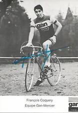 Cyclisme, ciclismo, wielrennen, FRANCOIS COQUERY met originele handtekening