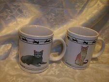 Cat Lovers Limited Collectable Cats Coffee Mugs Chartreux Turkish Van Abyssinian