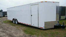 8.5x24 Enclosed Trailer 10,4000 LB Cargo V Nose 26 Utility Motorcycle 8 22 2018