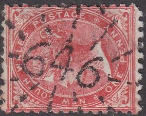 NSW numeral postmark 646(1) of WILLOW TREE [rated 4R] Type 3R12