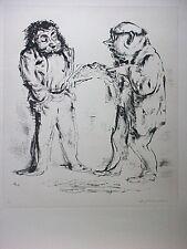 A. PAUL WEBER, Lithographie 1974, signiert, Schwarz auf weiß
