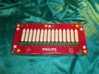 Vintage Weihnachtsbaumbeleuchtung alte Lichterkette 15 Kerzen weiß Philips CBS